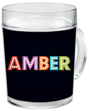 Broadway Letters Clear Acrylic Mug