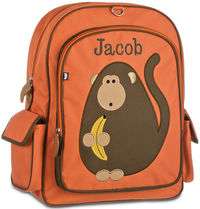Monkey Business Large Embroidered Backpack
