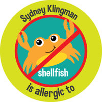 Single Allergy Stickers