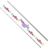 Flower Power Acrylic Ruler