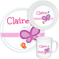Dotted Butterfly Melamine Set