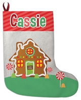 Gingerbread House Christmas Stocking