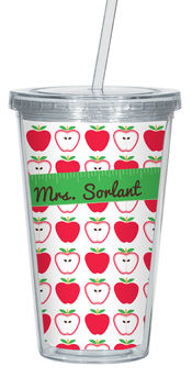 Apples Clear Acrylic Tumbler