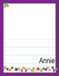ABC Girl Kindergarten Drawing Pad