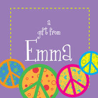 Crazy Peace Purple Gift Stickers
