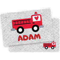 Fire Truck Valentine Placemat