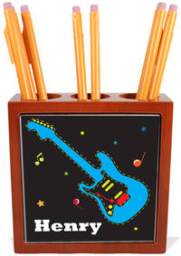 Funky Guitar Pencil and Pen Holder