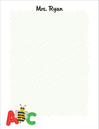 Funny Bee I Large Notepad