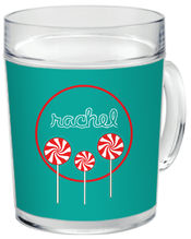 Peppermint Pops Clear Acrylic Mug