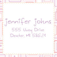 Abstract Lavender Return Address Label