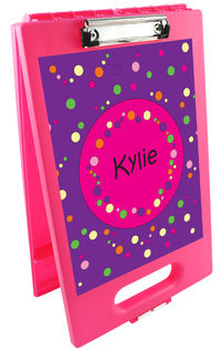 Bubbles Girl Clipboard Storage Case