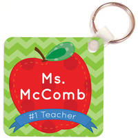 Number One Teacher Key Chain