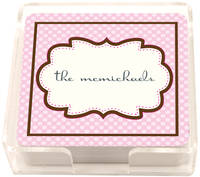 Chocolate Pink Frame Coasters