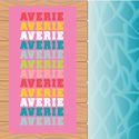 Name In Brights Pink Beach Towel