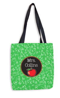 Apple Chalkboard Tote Bag