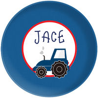 Blue Tractor Plate