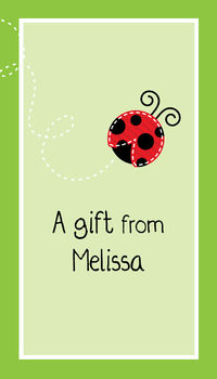 Ladybug Wishes Gift Sticker