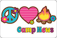 Peace Love Camp UNPERSONALIZED Postcards