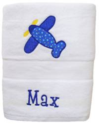 Airplane Embroidered and Applique Towel