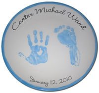 Foot-printed Blue Plate