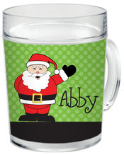 Cheerful Santa Clear Acrylic Mug