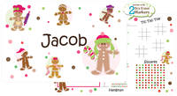 Gingerbread Dots Boy Dry Erase Placemat