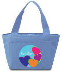Bright Hearts Insulated Lunch Tote