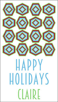 Abstract Holiday Gift Sticker