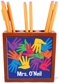 Bright Handprints Pencil and Pen Holder