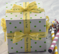 "5/8"" Gingham Personalized Ribbons"