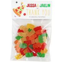 Pizza Birthday Party Candy Bag Favors
