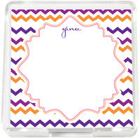Tangerine Purple Chevron Mini Memo Sheets