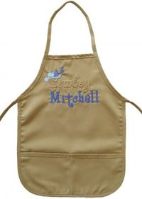 Cowboy Embroidered Apron