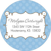 Cafe Blue Return Address Label