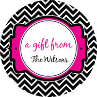 Black Chevron Gift Stickers
