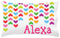 Lined Hearts Pillowcase