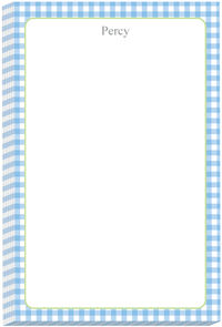 Blue Gingham Note Pad