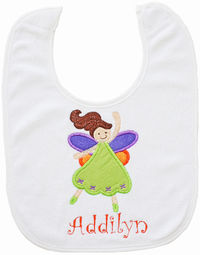 Fairy Embroidered Bib