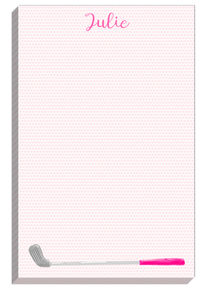 Pink Golf Club Notepad