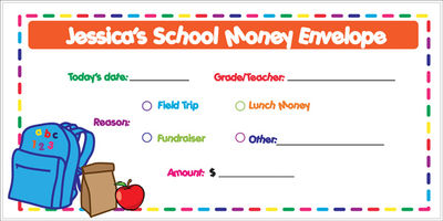 School Days Money Envelope