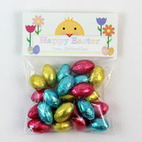 Chickadee Banner Easter Candy Bag Toppers