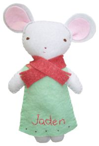 Winter Mouse Girl Stuffed Animal