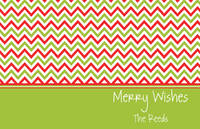 Merry Chevron Paper Placemats