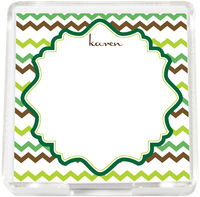 Green Waves Mini Memo Sheets