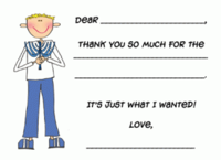 Holiday Custom Thank You Fill-in Note Card  H-FCC-F