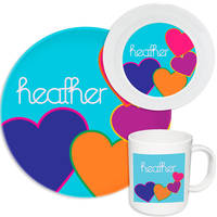 Bright Hearts Melamine Set
