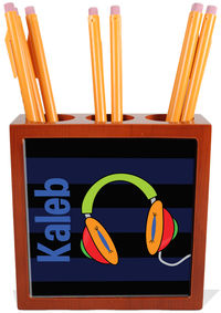 Awesome Headphones Pencil and Pen Holder
