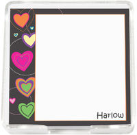 Brite Mod Hearts Mini Memo Sheets