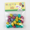 Bunny Flowers Easter Candy Bag Toppers