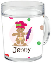 Gingerbread Dots Girl Clear Acrylic Mug